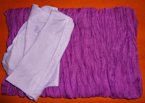 Crumble Shawl Purple & Inner, gambar shawl, shawl cantik, fesyen shawl, inner anak tudung