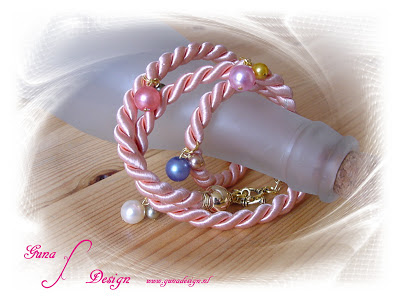 gunadesign rope bracelet Pink Wave