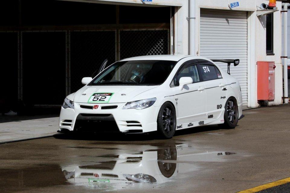 Honda Civic Type R FD2, biała, przód, VTEC is kicking in yo, typowy Hondziaż, najlepsze przednionapędówki, K20, tuning, samochody na tory wyścigowe, zdjęcia