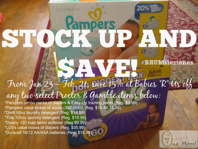 Pampers and Babies R Us Stock Up And Save PG Promotion Savings on LUVS and Pampers Products