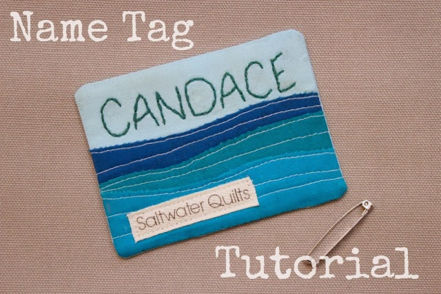 Saltwater Quilts: Name Tag Tutorial : quilting name tags - Adamdwight.com