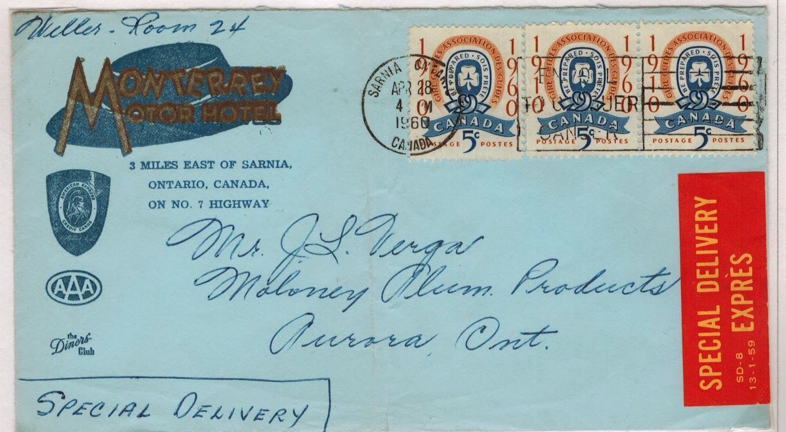 Postal History Corner: Illustrated Covers : 1953 - 1962