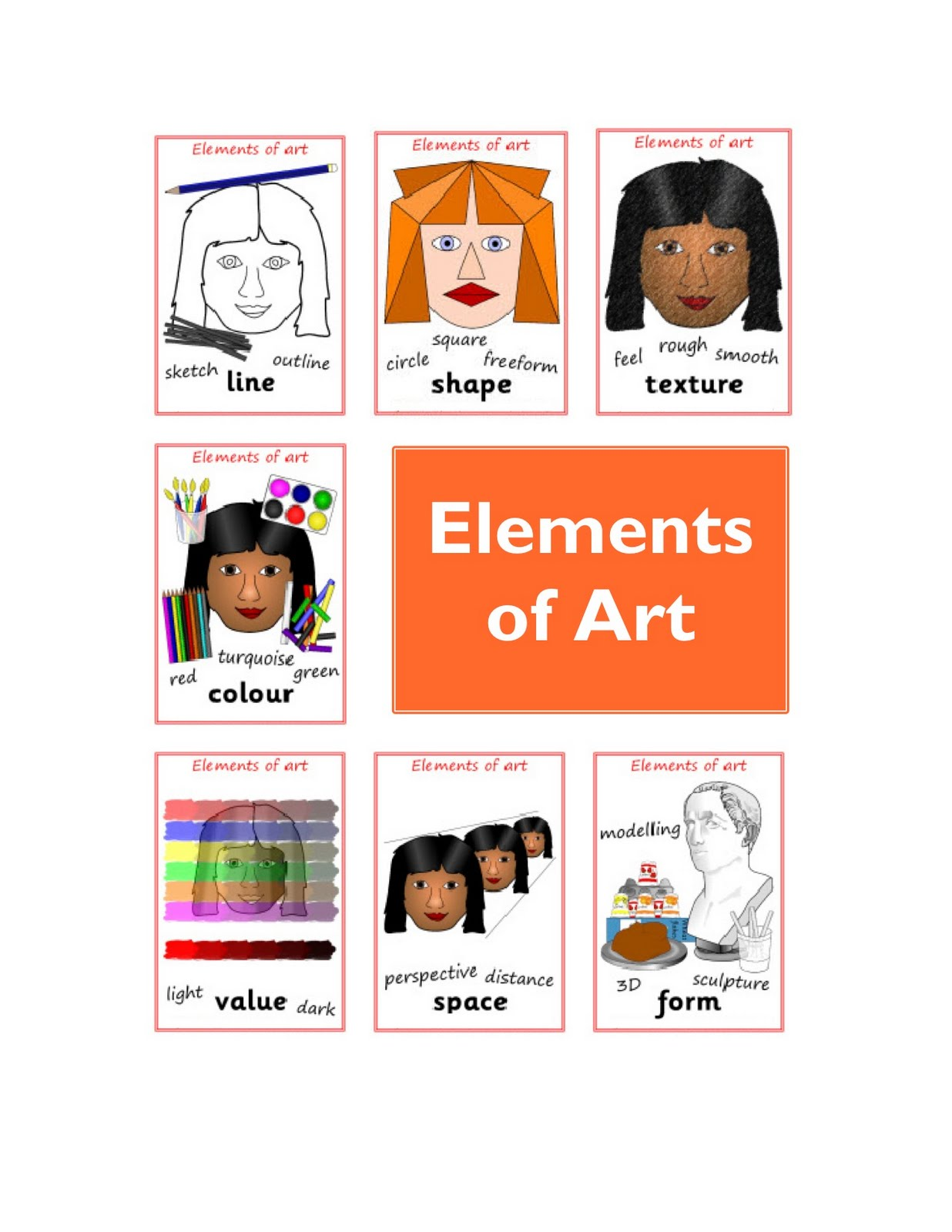 6 Elements Of Art : Making our mark the elements of art