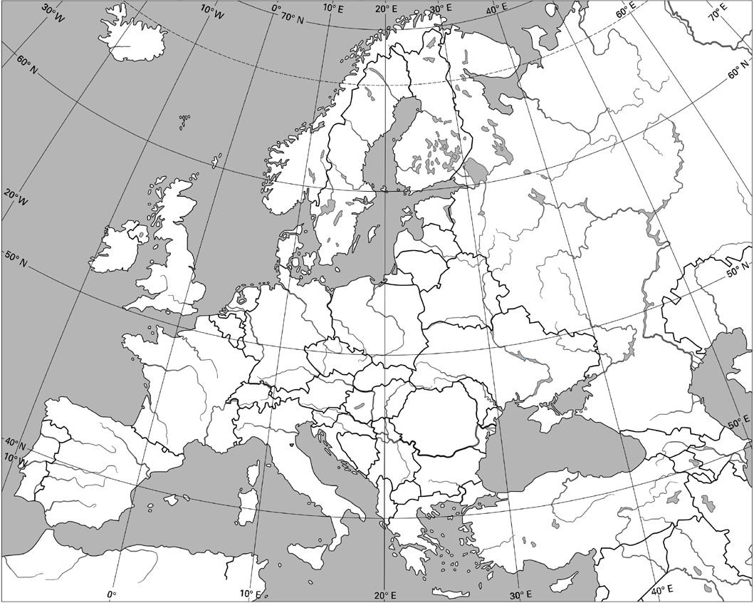 Mapa De Europa Mudo Rios
