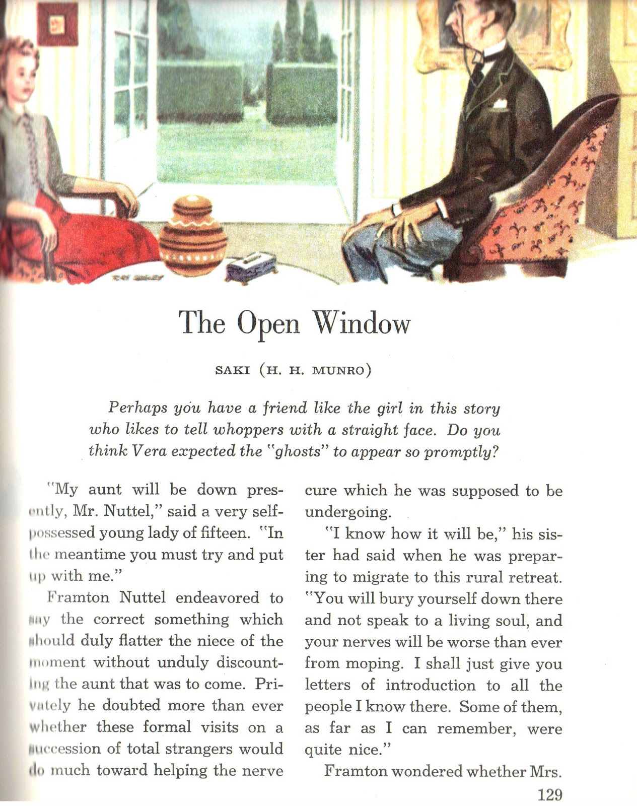 the open window by saki analysis The open window by saki - detailed summary & analysis summary and analysis.