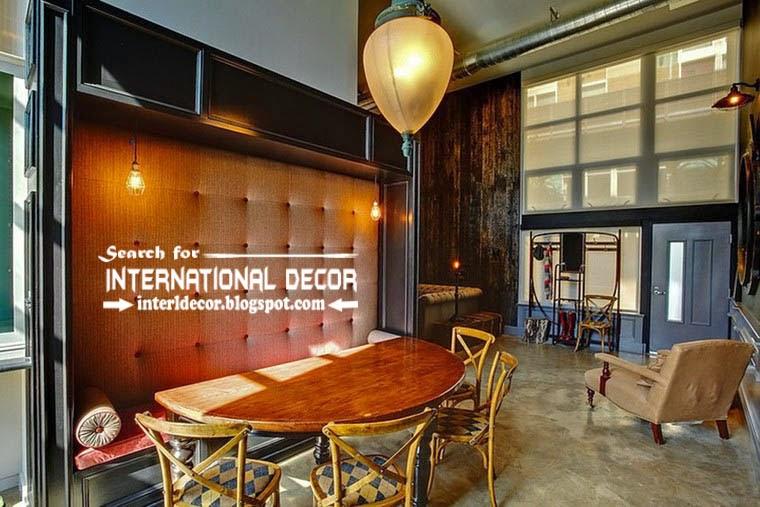 tips to creating retro interior design style, retro dining room design 2015