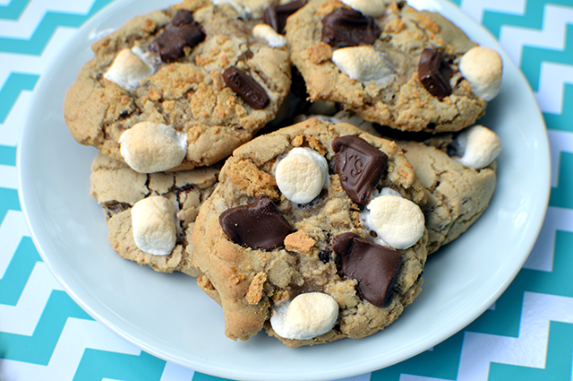 easy s'more cookies