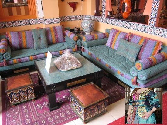 Salon Marocain Mauve Et Beige : Décoration salon marocain moderne