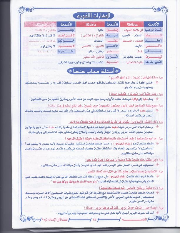 مراجعات وامتحانات عربى اولى اعدادى الترم الثانى2015 1pr+arabic+t2+