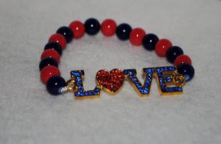 Rhinestone Love Bracelet