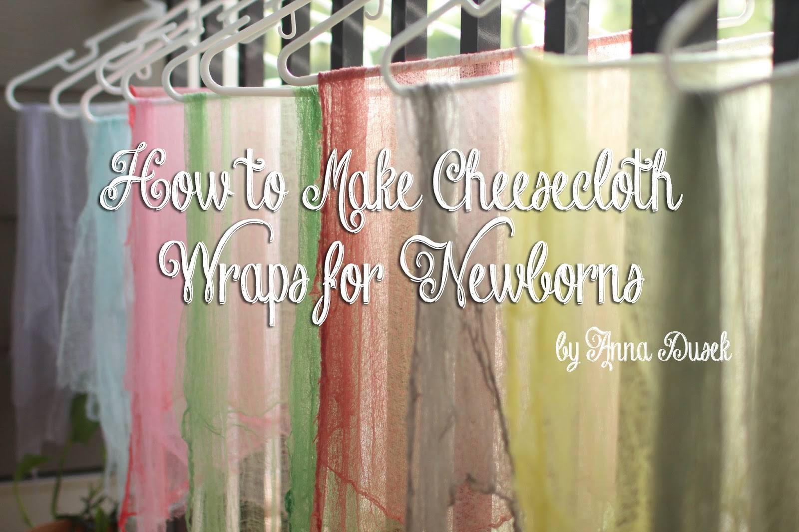 how to dye cheesecloth