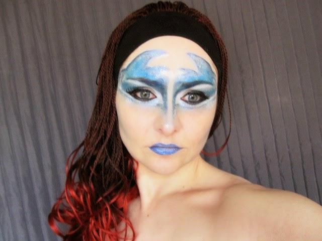 circo del sol, circo au soleil,azul, caracterización