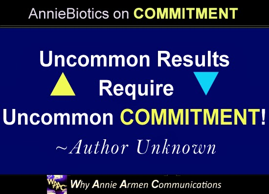 Words backed with Commitment and Action have Power! ~Annie Armen, Communications Artist | WhyAnnieArmen.com