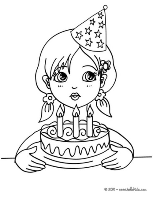 girl birthday coloring pages for kids disney coloring pages