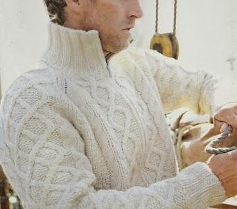 Suéter Hombre Trenzado a Dos Agujas o Knitting