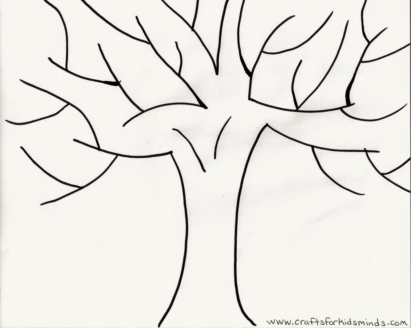 image about Fall Tree Printable named Crafts for Small children Minds: No cost Slide Tree Printable