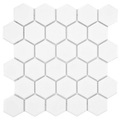 white large SomerTile Hexagon tile