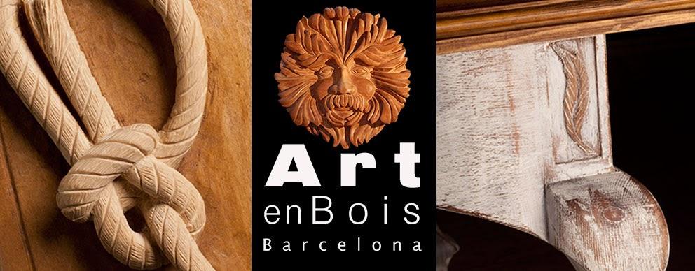 art en bois decoration Barcelona  bois wood ébéniste sculpteur sur bois
