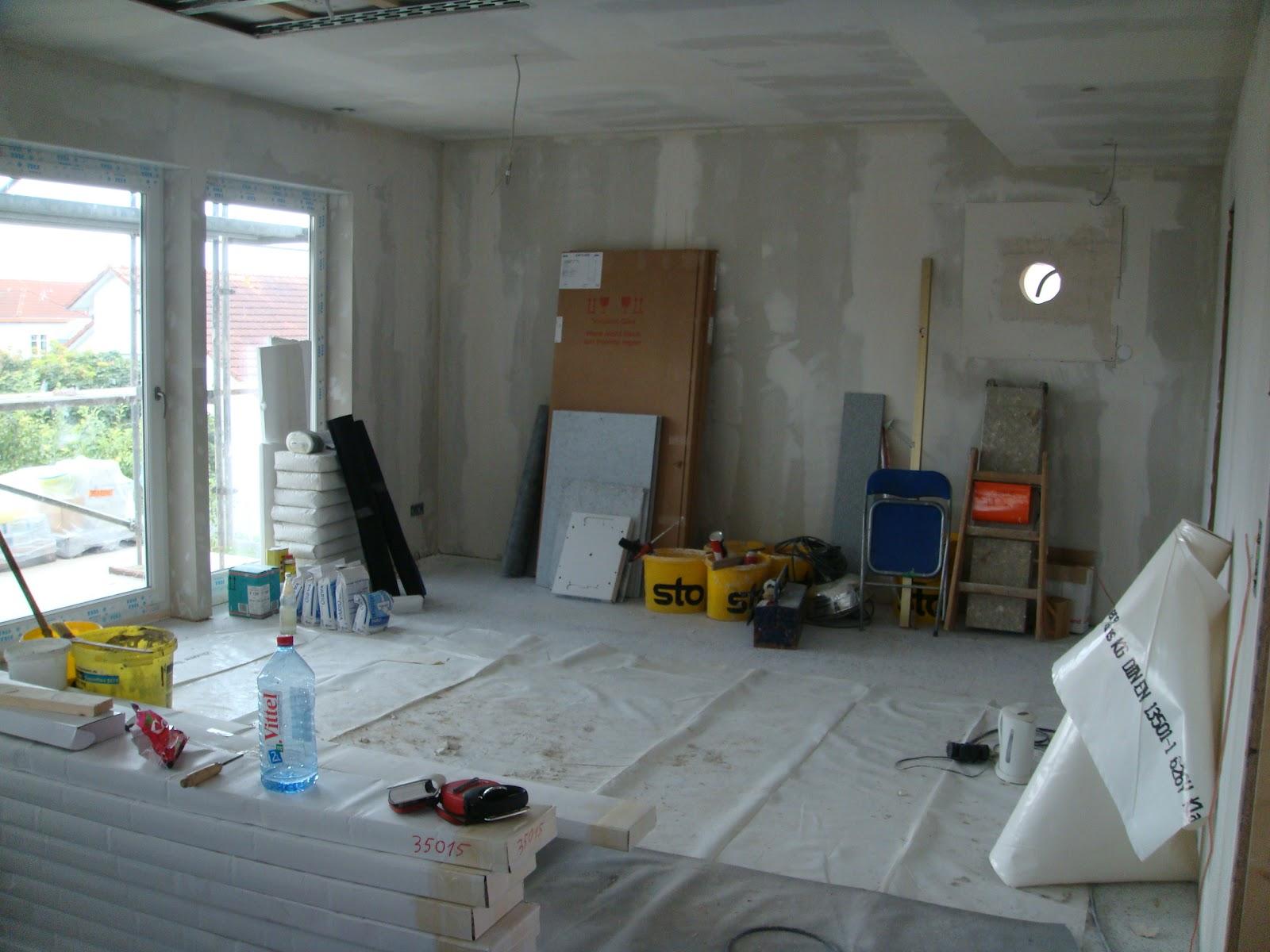 Unser Neubau als Fertighaus in Tumringen: So siehts momentan innen ...