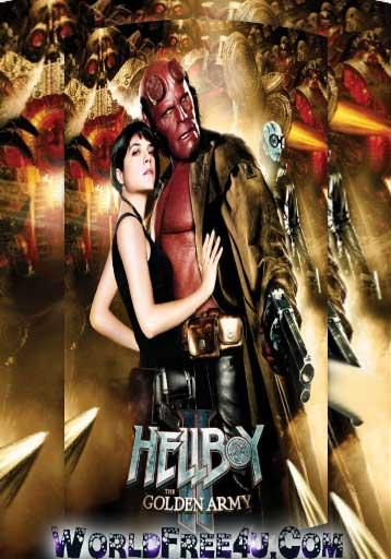 Poster Of Hellboy II: The Golden Army (2008) Full Movie Hindi Dubbed Free Download Watch Online At worldfree4u.com