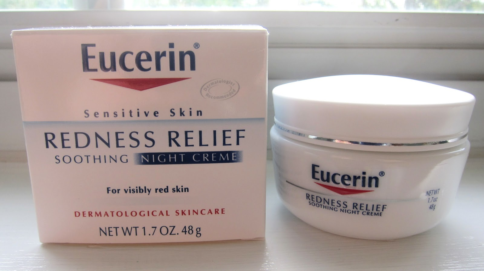 beautiful canvas eucerin sensitive skin redness relief soothing night cream review. Black Bedroom Furniture Sets. Home Design Ideas