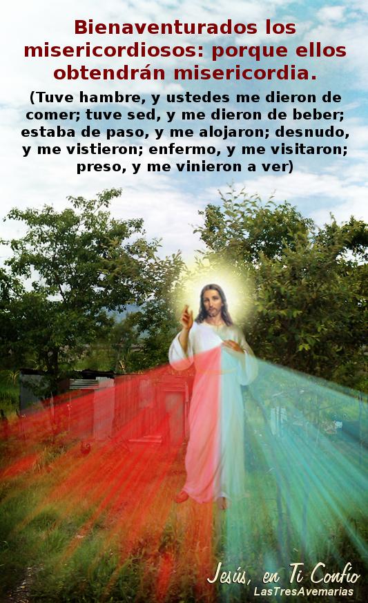fotografia de jesus misericordiso con mensaje de la biblia