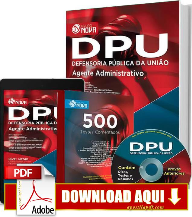 Apostila DPU 2015 Agente Administrativo Impressa PDF Download Grátis