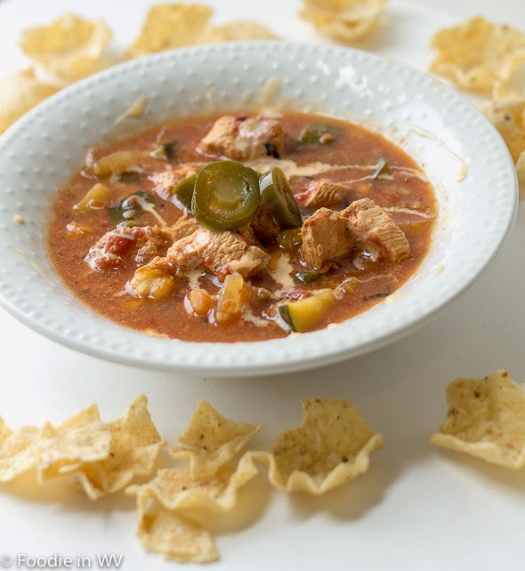 Slow Cooker Chicken Nacho Soup Foodie In Wv