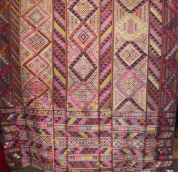 bhutanese textile antique silk vegetable dye kishu thara kira