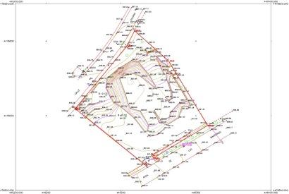 Situación de lindes - Mapa Topográfico