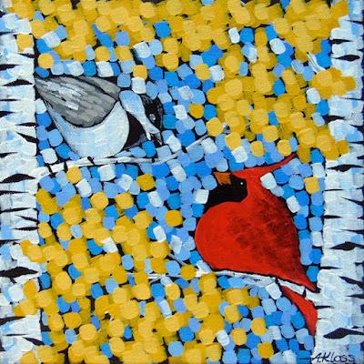 Cardinal-A-Dee acrylic painting by artist aaron kloss