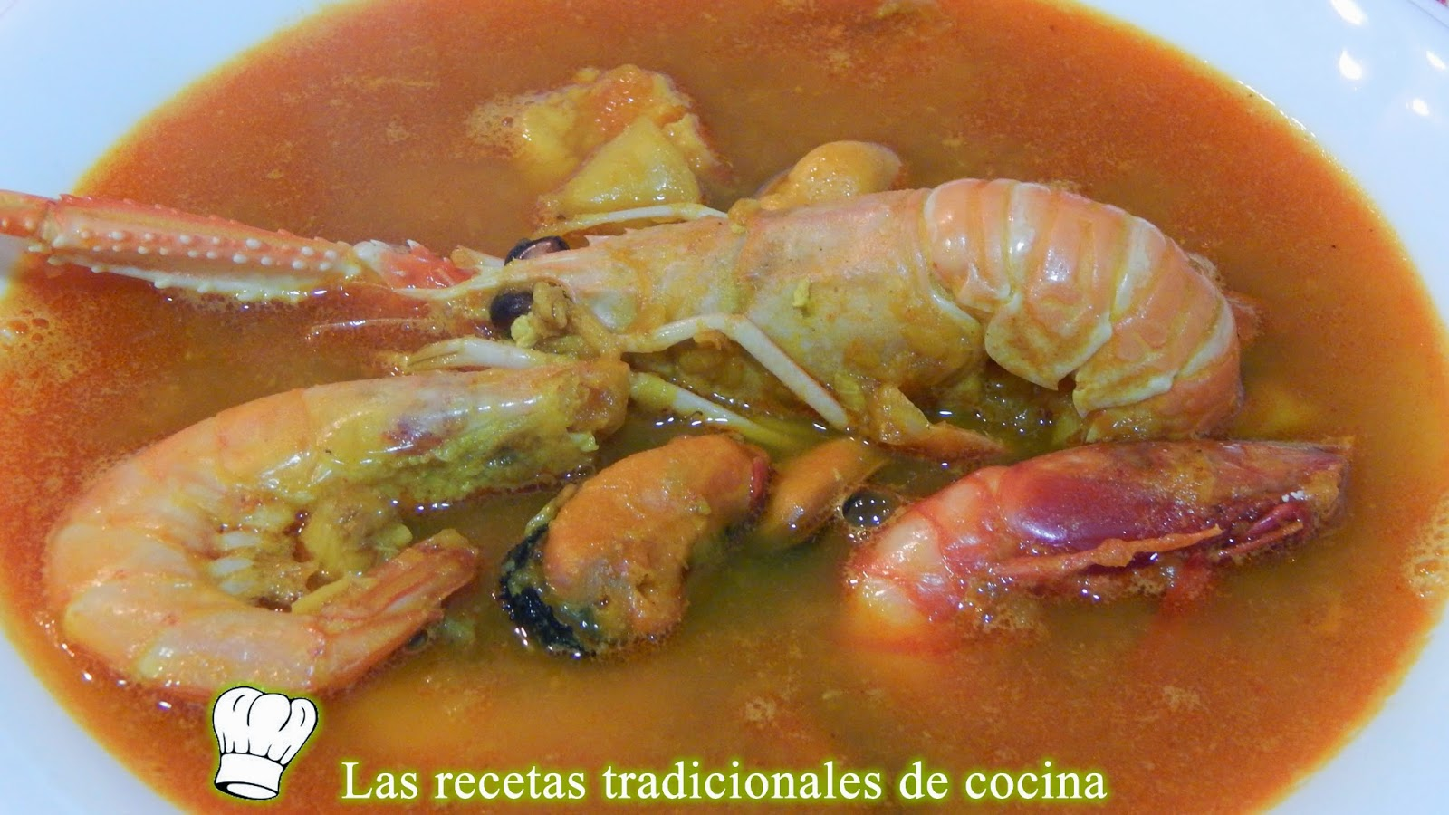Sopa de marisco o pescado
