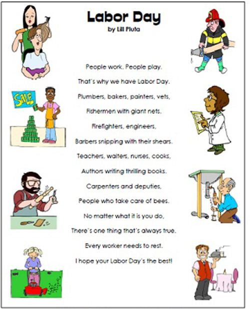 Labor Day Poem About Many Different Works Of People