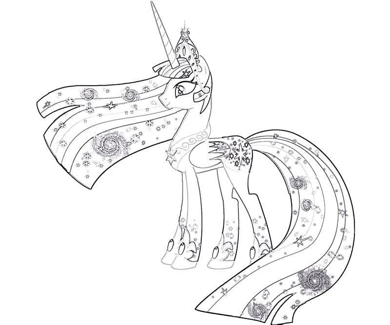 #26 Twilight Sparkle Coloring Page