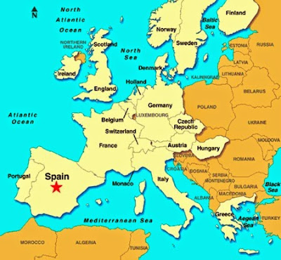İspanya Nerede Haritadaki Yeri