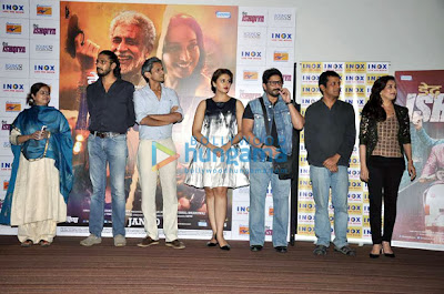 Huma Qureshi, Arshad and Madhuri Dixit at 'Dedh Ishqiya'  Press conference