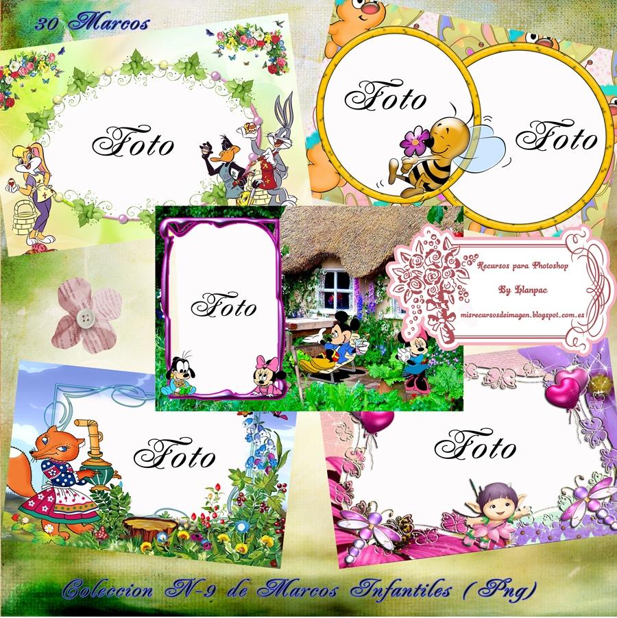 Llanpac coleccion n 9 de marcos infantiles para fotomontajes png