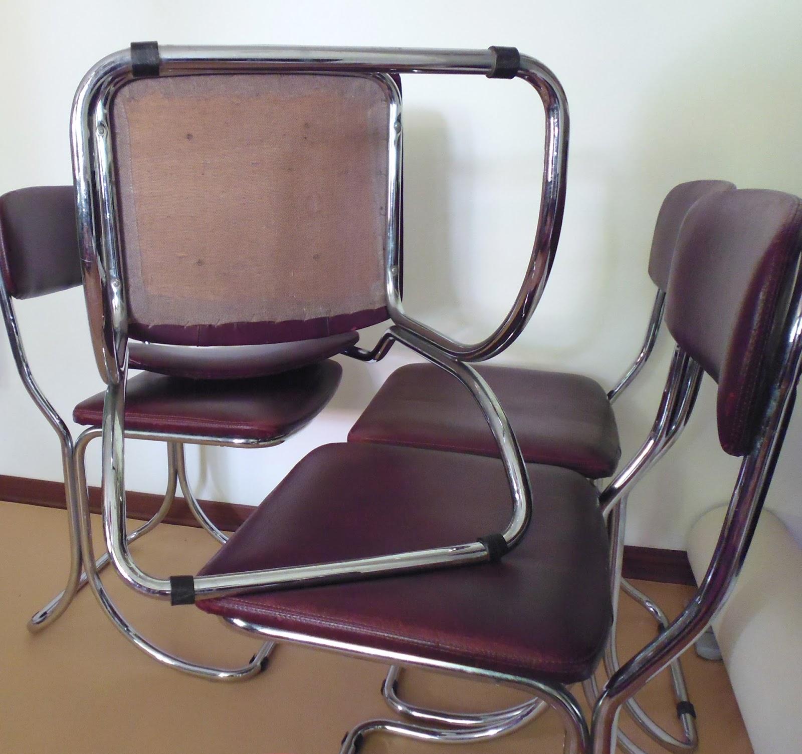 Rimodern straordinarie sedie in pelle e cromo vintage for Sedie design italiano