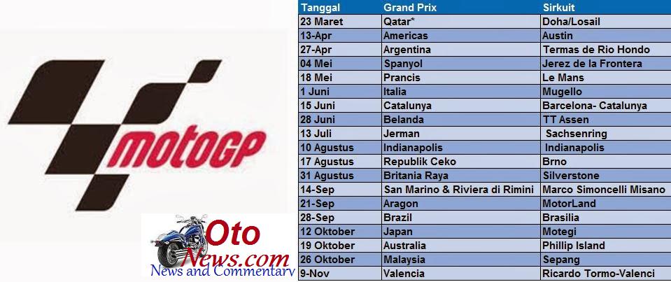 Jadwal MotoGP 2014 Live Trans 7 Jadwal+MotoGP