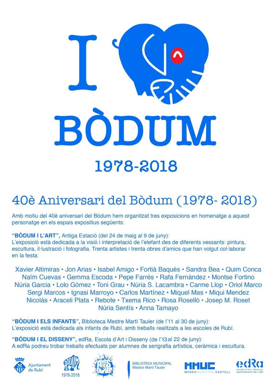 Exposicions Bodum 1978 - 2018