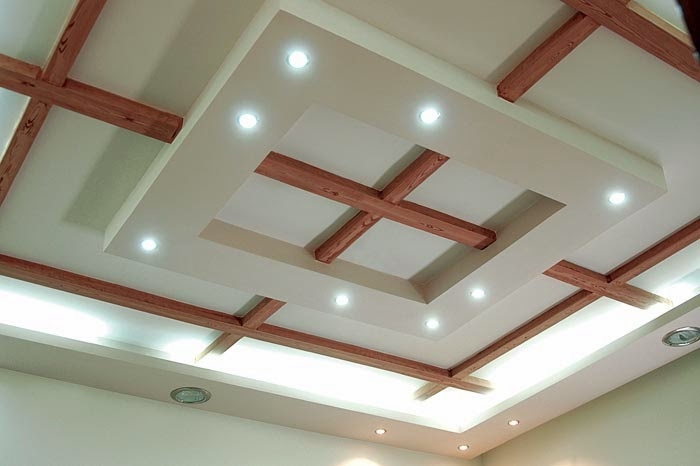 10 unique false ceiling modern living room interior designs for Ceiling interior designs