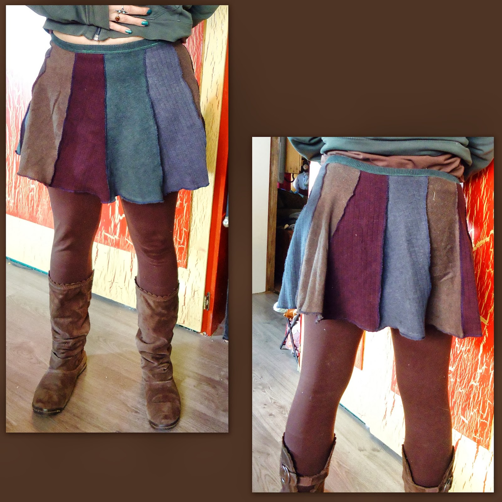 Recycled Miracles: Sweater skirt - katwise inspired