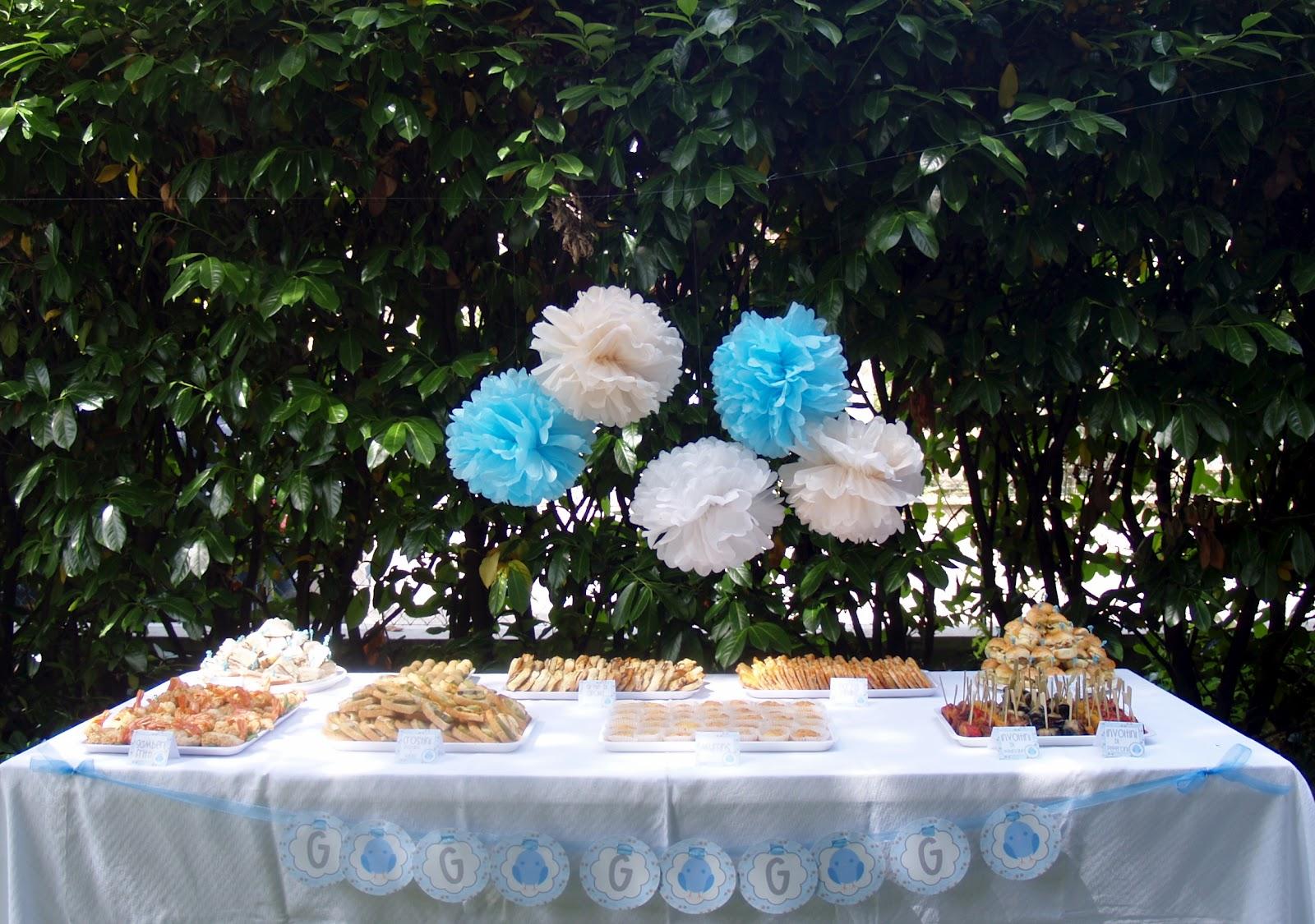 ... mi rilasso: Un Battesimo in giardino: Torta e buffet dolce e salato