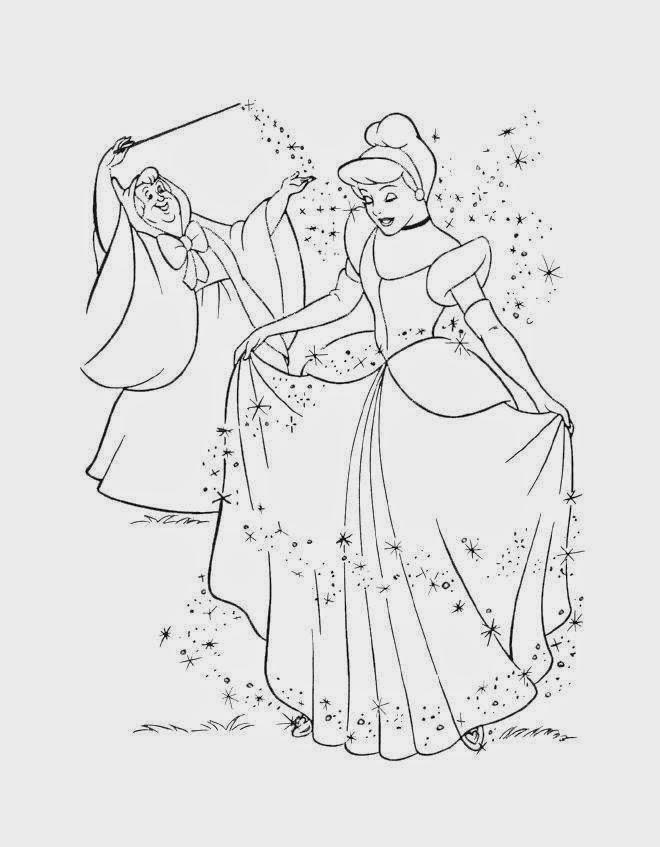 Desenhos de Cinderela ou Cinderella para colorir jogos de  - imagens para colorir da cinderela