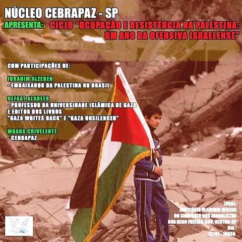 Embaixador da Palestina no Brasil participa de debate