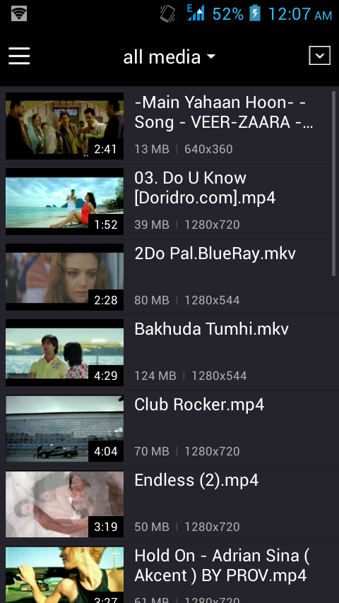 KM player for Android