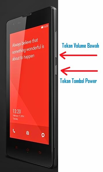 Cara Capture Gambar Android Xiaomi Redmi 1s + mi1 + mi3 + mi4