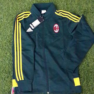 gambar desain terbaru musim depan Jaket Ac Milan warna hijau terbaru musim 2015/2016 di enkosa sport toko online jaket bola terpercaya