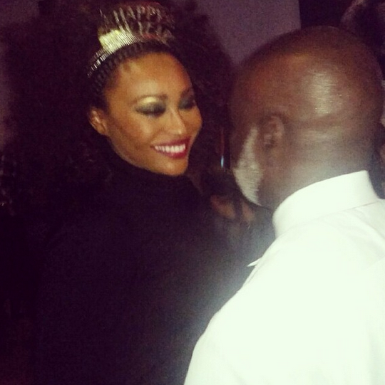 Cynthia Bailey and Peter Thomas on New Years Eve