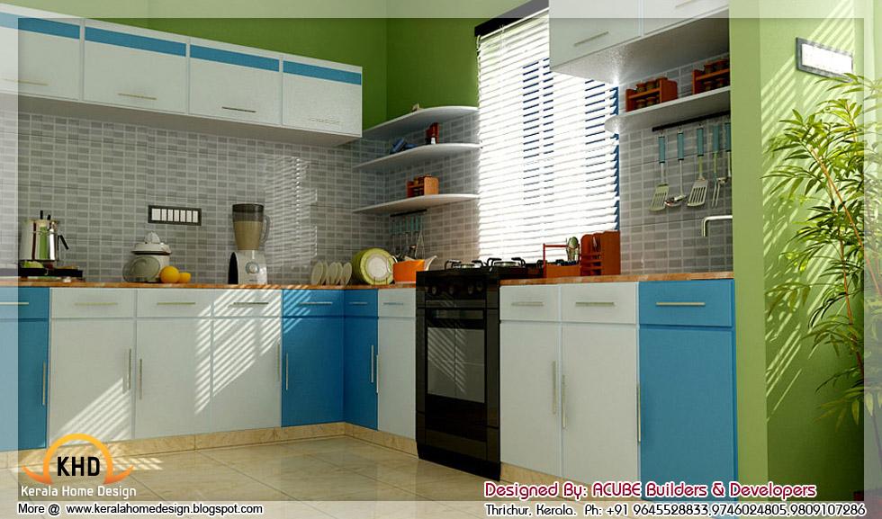 3D interior designs - Kerala home design - Architecture house plans